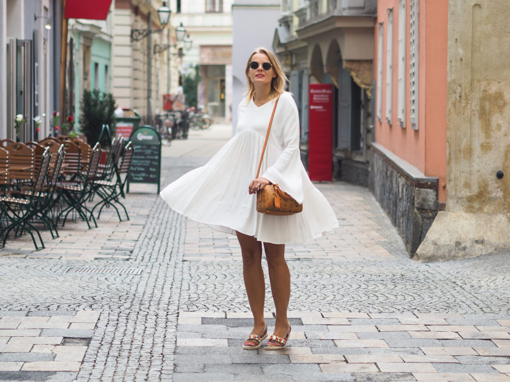 Outfit – Volant Kleid und meine neue MCM Tasche
