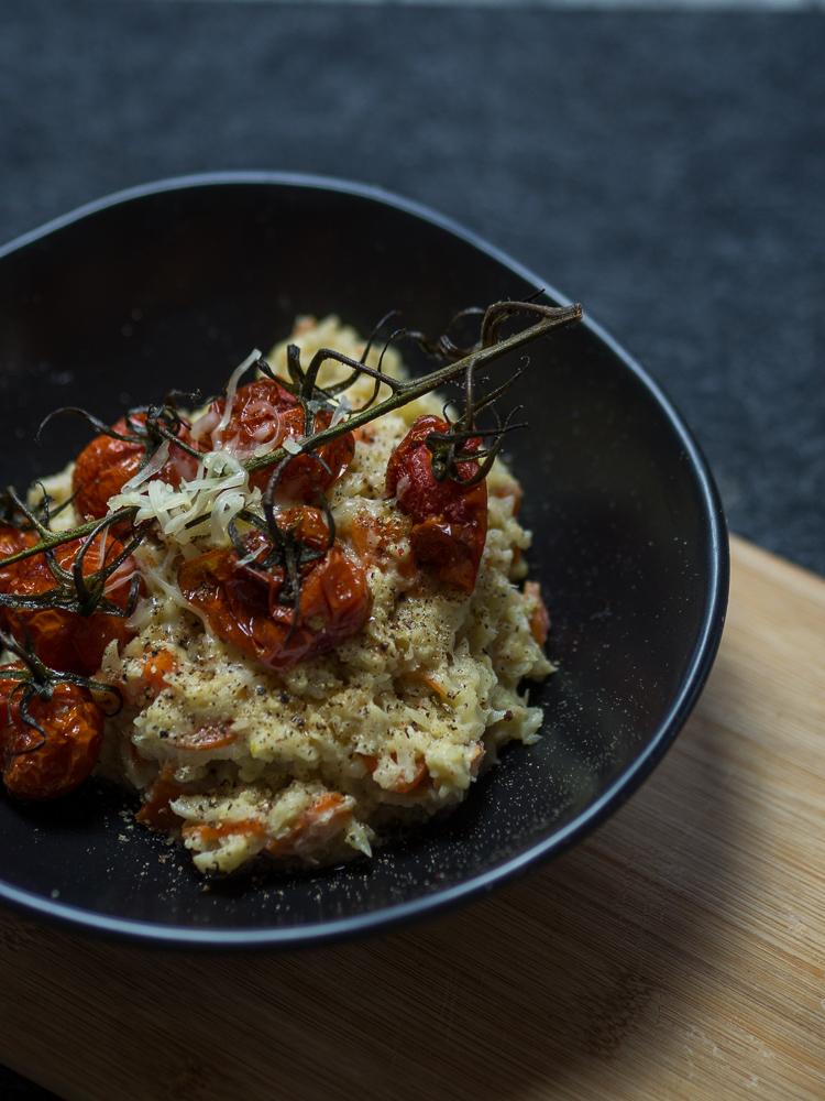 Low Carb Rezept – Karfiol Risotto mit Tomaten