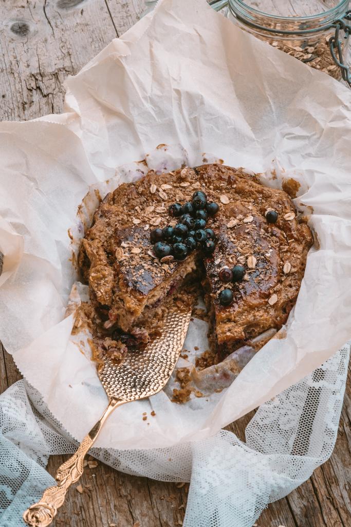 Cook | Heidelbeer Kaffee Cheesecake mit Müsliboden