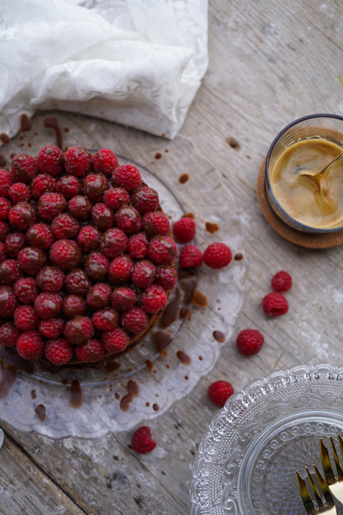 Rezept | Schokoladen Himbeer Torte